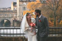 Winter Wedding Romantic Couple Shots