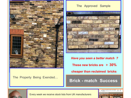 """"""" 'Spot on' Brick match""""; says the builder"""