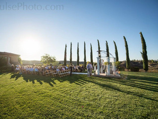 A Glowing Winery Wedding!