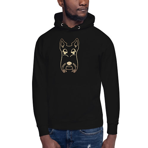 Poncho the Scottie Black Unisex Hoodie