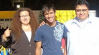 Gabriel Feitosa and Gabriel and Ivonne Rangel during CBKC Dogshow on Rio de Janeiro