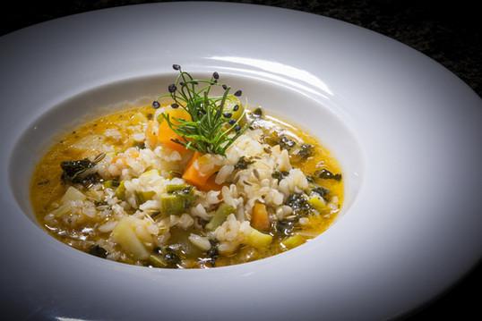 Zuppa Marcucci con riso selvaggio  Marcucci soup with wild rice