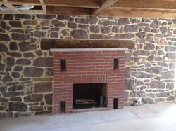 Restored Stone Walls and Fireplace