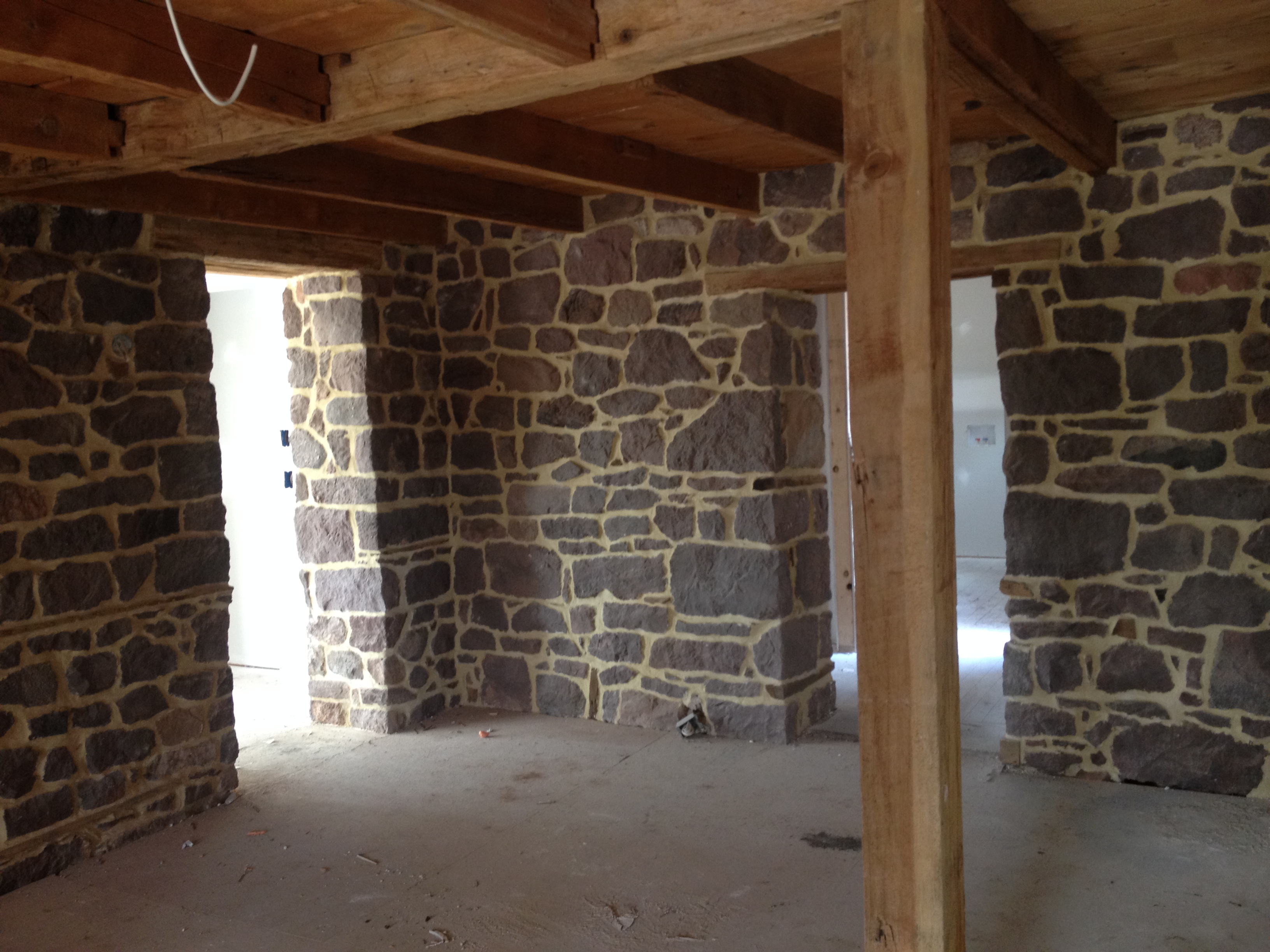 Beautifully Restored Interior Stone Wall