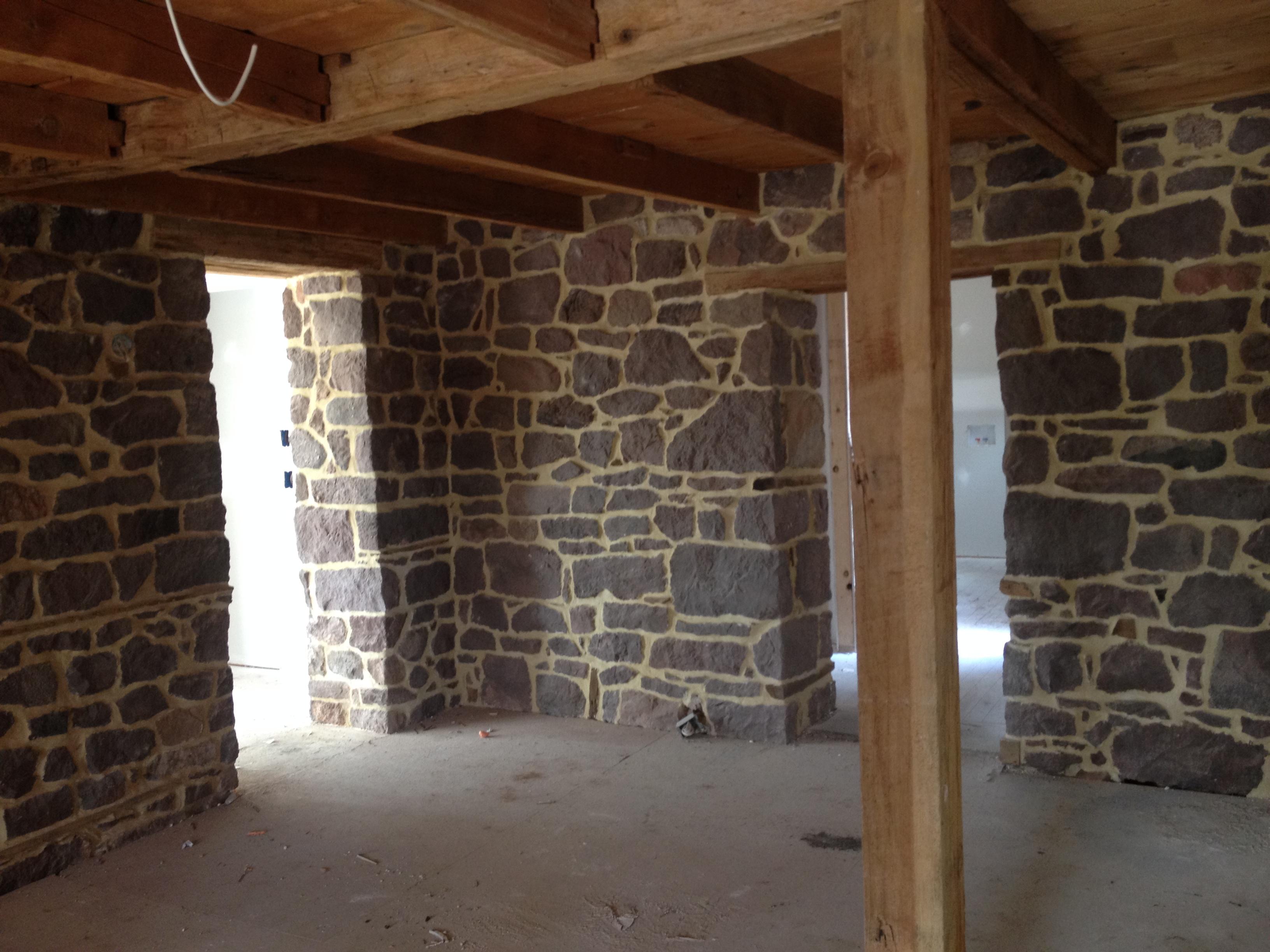 Beautifully Restored Interior Stone Wall