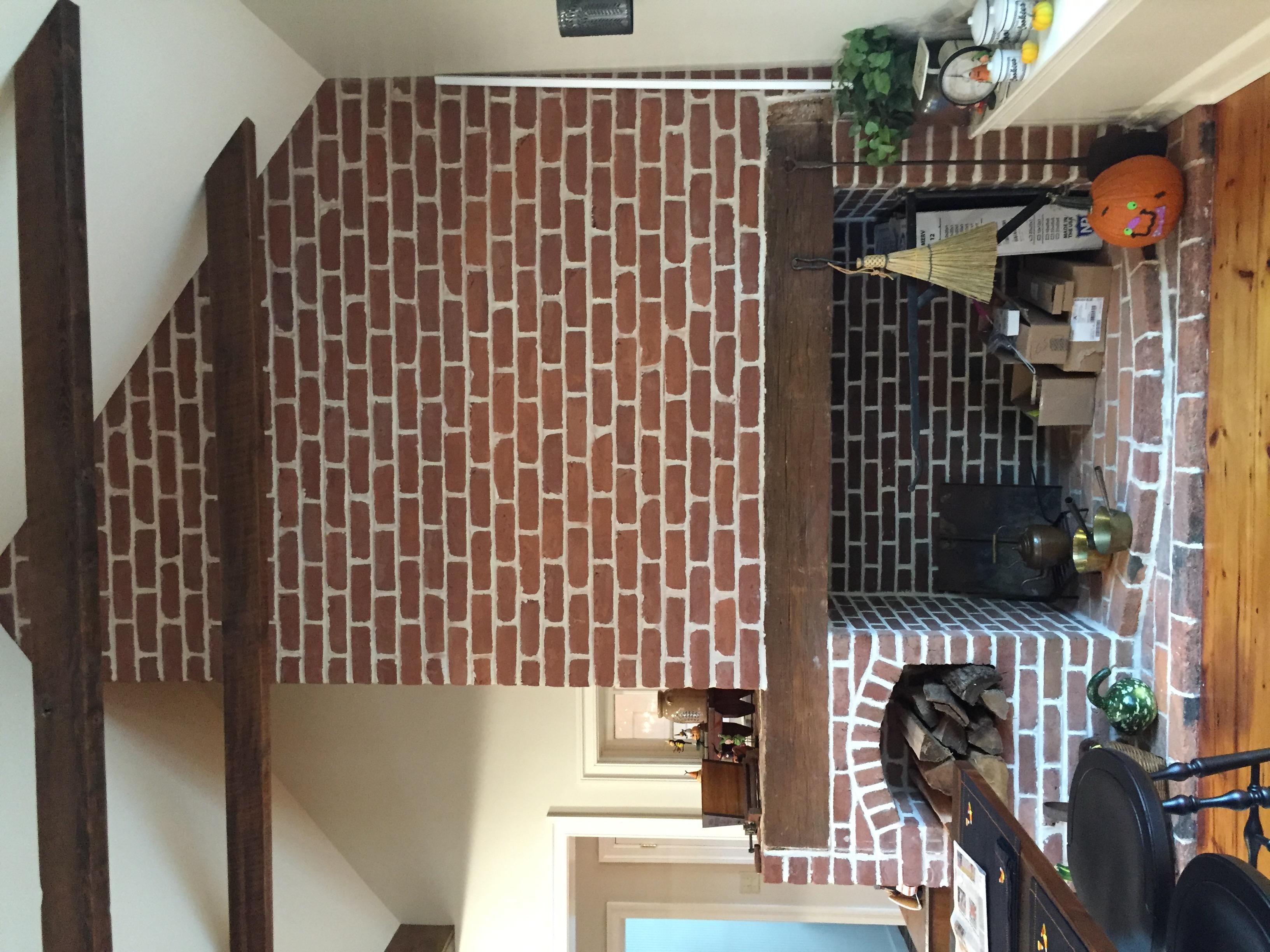 Elegant Brick Fireplace