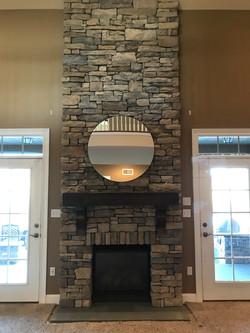 Beautiful Drystack Stone Fireplace