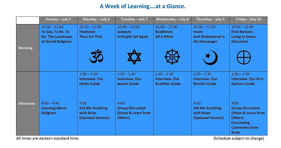 Virtual DW - Schedule - Short Website  -