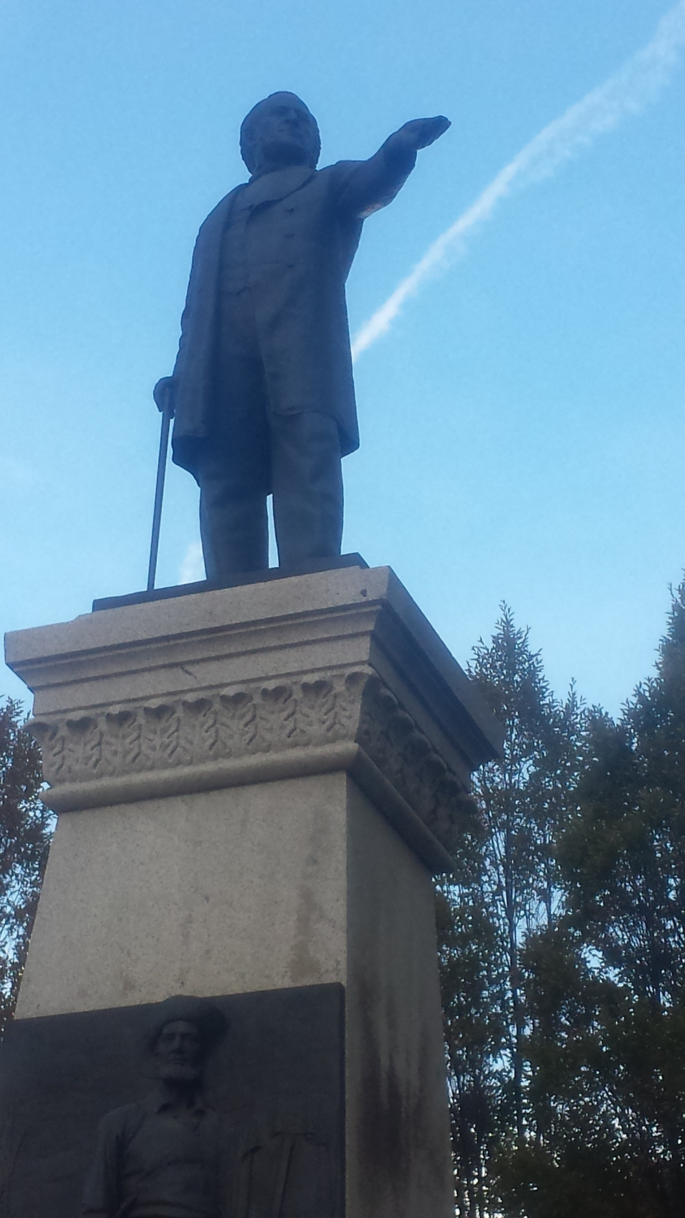 Statue of Brigham Young, the second most important person in Mormon history after founder Joseph Smith.