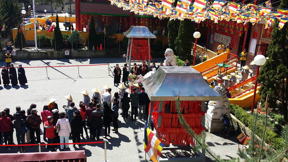 Buddhist temple on Renunciation Day