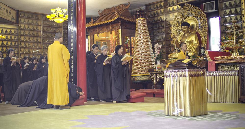 Buddhist ritual - Cham Shan temple - Toronto