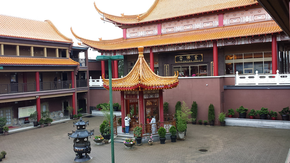 The Buddhist temple was quite spectacular.