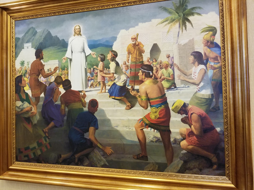 Jesus appears to people in the Americas, post his resurrection