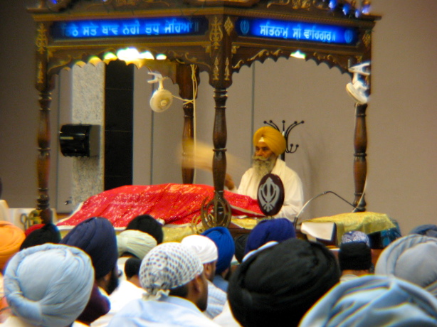 Darbar at Sikh Gurdwara