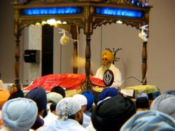 Darbar at Sikh Gurdwara