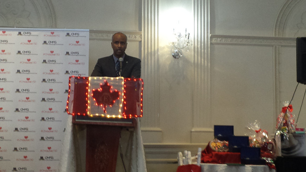 The Rt Honourable Ahmed Hussen, former refugee, now Canadian government minister