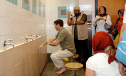Performing Wudu at Mosque