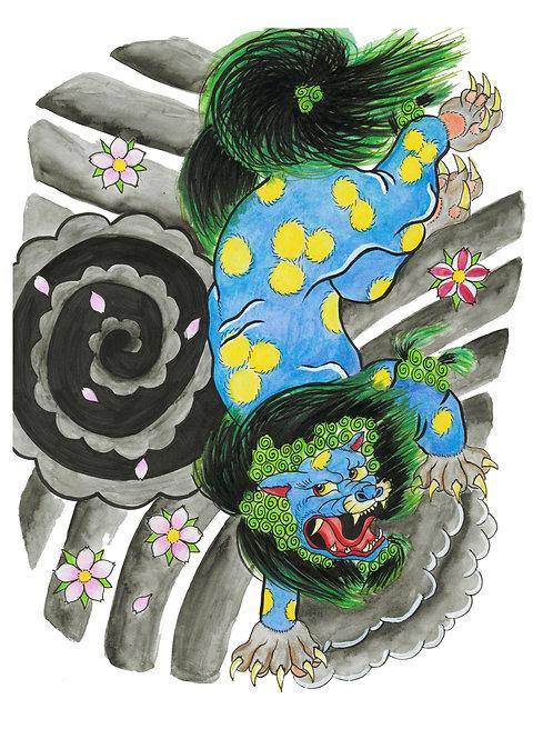 Japanese Foo Dog - Print