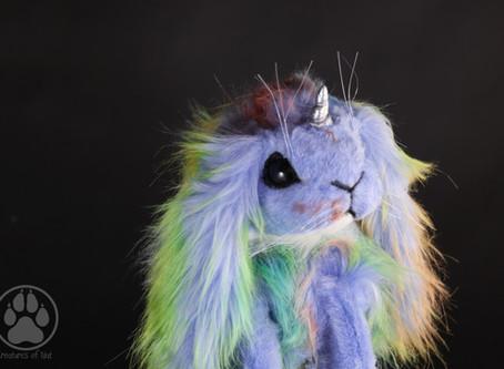 Inside Plox the Rainbow Unicorn bunny