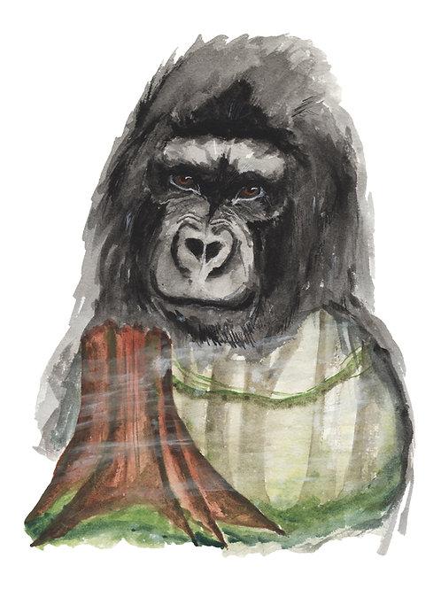 Forest Gorilla - Print