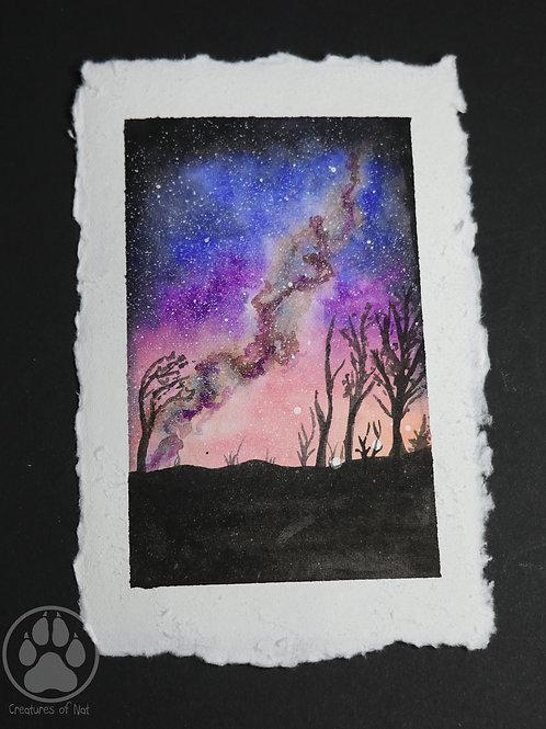 Desert Galaxy - Watercolour Painting