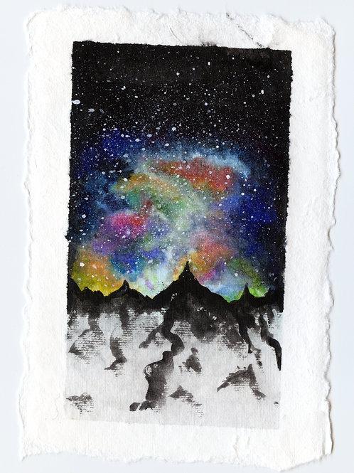 Mountain Nebula - Watercolour Painting