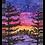 Thumbnail: Purple sunset landscape - Watercolour Painting