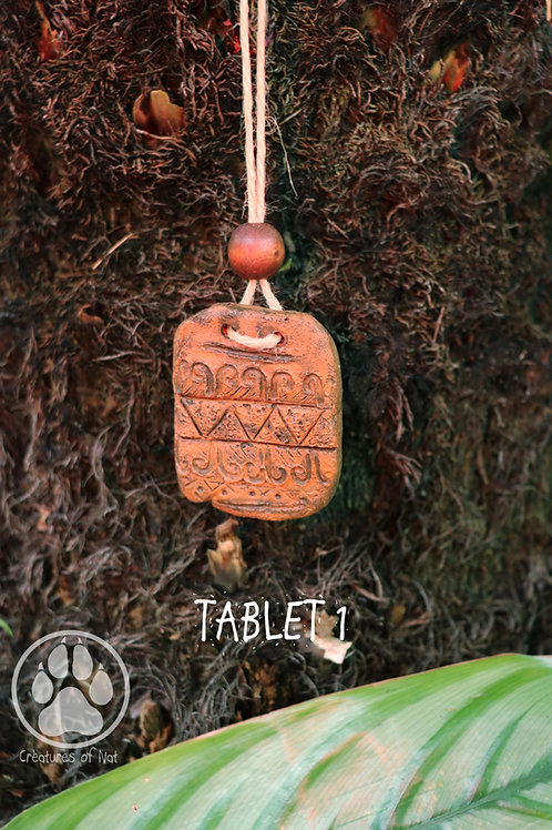 Resin Stone Talsiman Necklace - TABLET