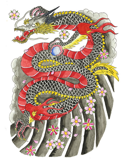 Japanese Dragon - Print