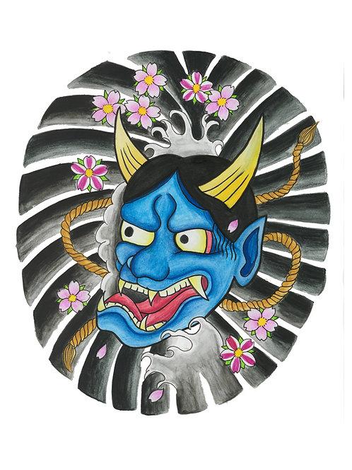 Japanese Hannya - Print