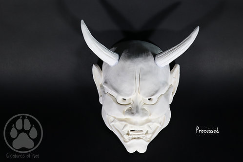 Made to order RAW Blank Hannya Mask - Resin