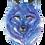 Thumbnail: Galaxy Wolf - Watercolour Painting