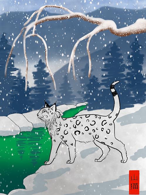 Printable - Linux the Alpine Wildcat