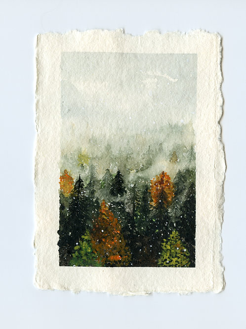 Autumn Forest - Watercolour Painting