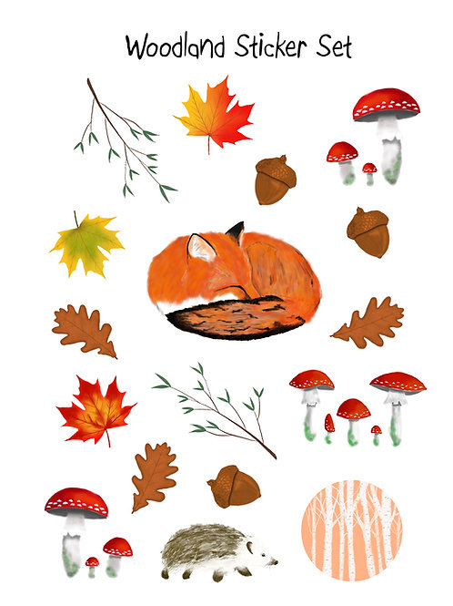 Woodland Sticker Sheet