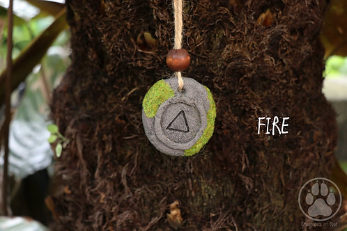Resin Stone Talsiman Necklace - FIRE
