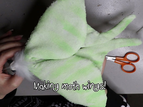 How to make moth wings for artdolls tutorial