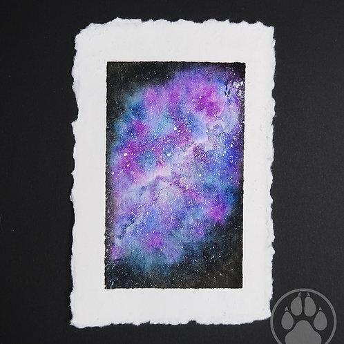Purlple Galaxy - Watercolour Painting