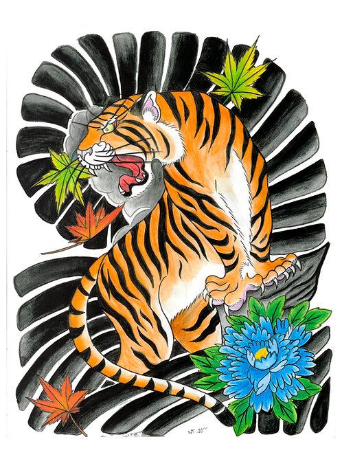 Japanese Tiger  - Print