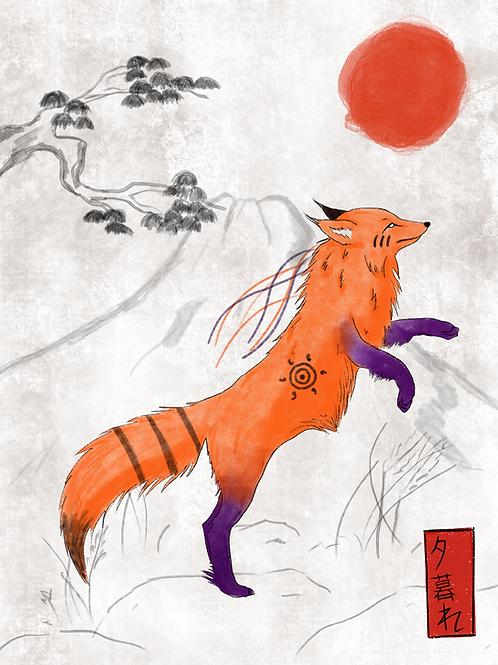 Printable - Dusk fox