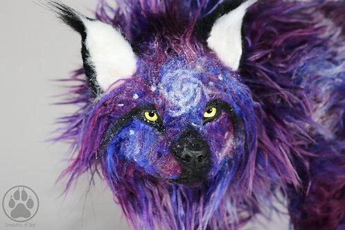 Alpha the Purple Galaxy Wolf - Artdoll OOAK