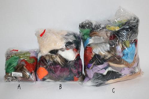 Faux Fur Off-cut and Scrap Bag