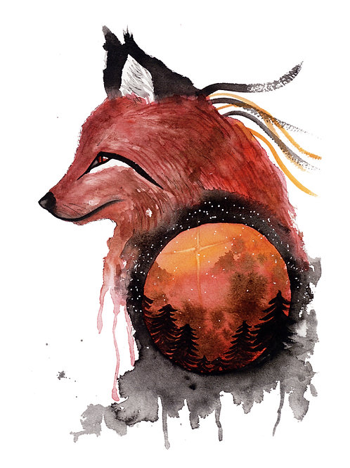 Bloodmoon Fox - Print