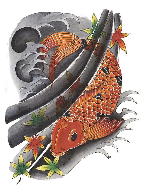 Japanese Koi - Print