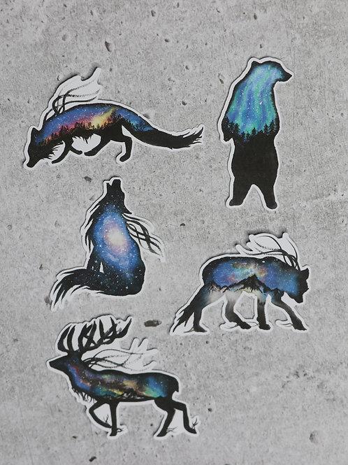 Galaxy Creatures Die-cut Sticker Pack