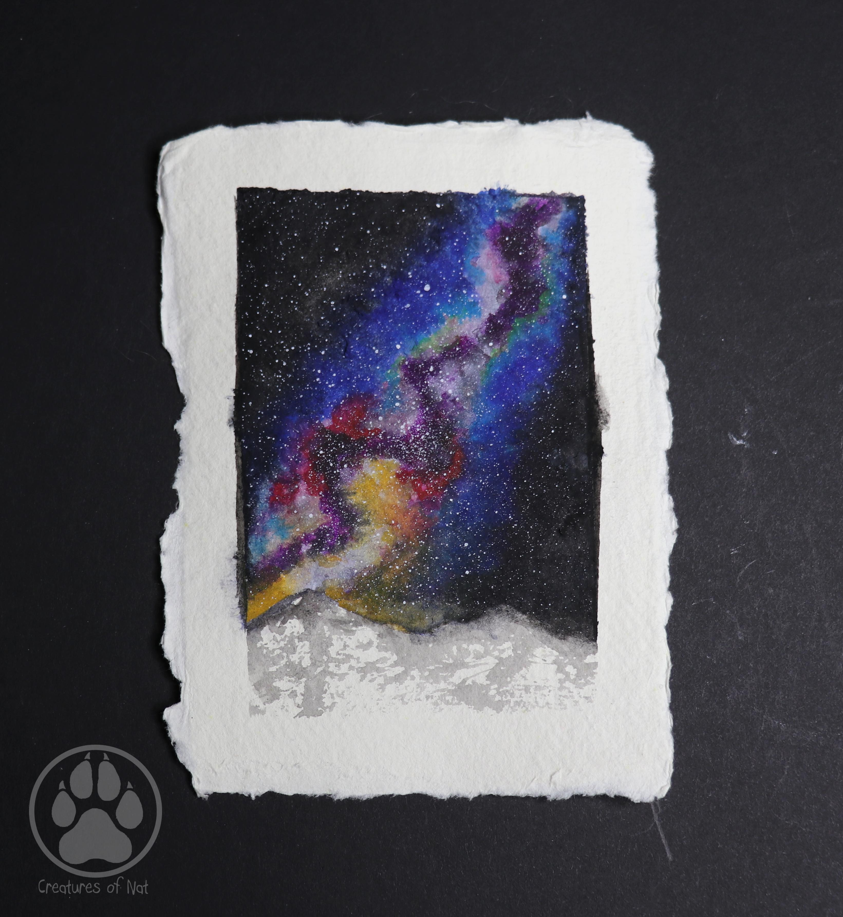 snow mountain galaxy