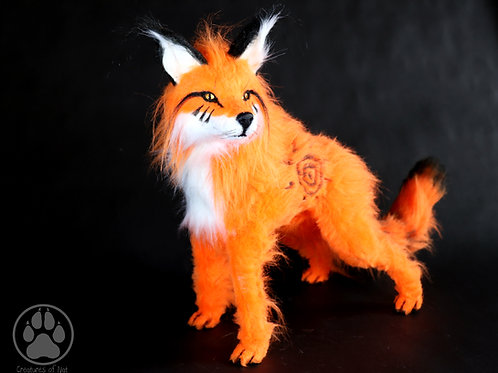 Taiyō the Sunburst Fox poseable artdoll