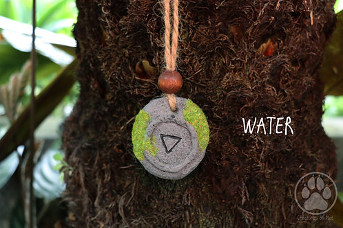 Resin Stone Talsiman Necklace - WATER