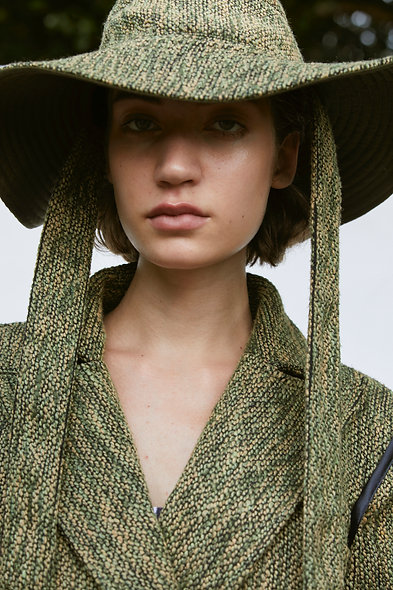 Green Tweed Bucket Hat