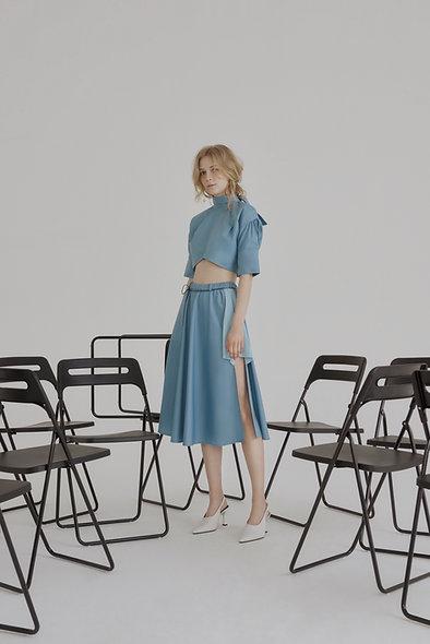 Lea Cotton Shirt - Blue